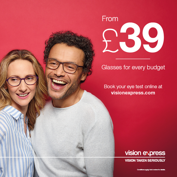 Vision Express Lisburn Eye Test Offers